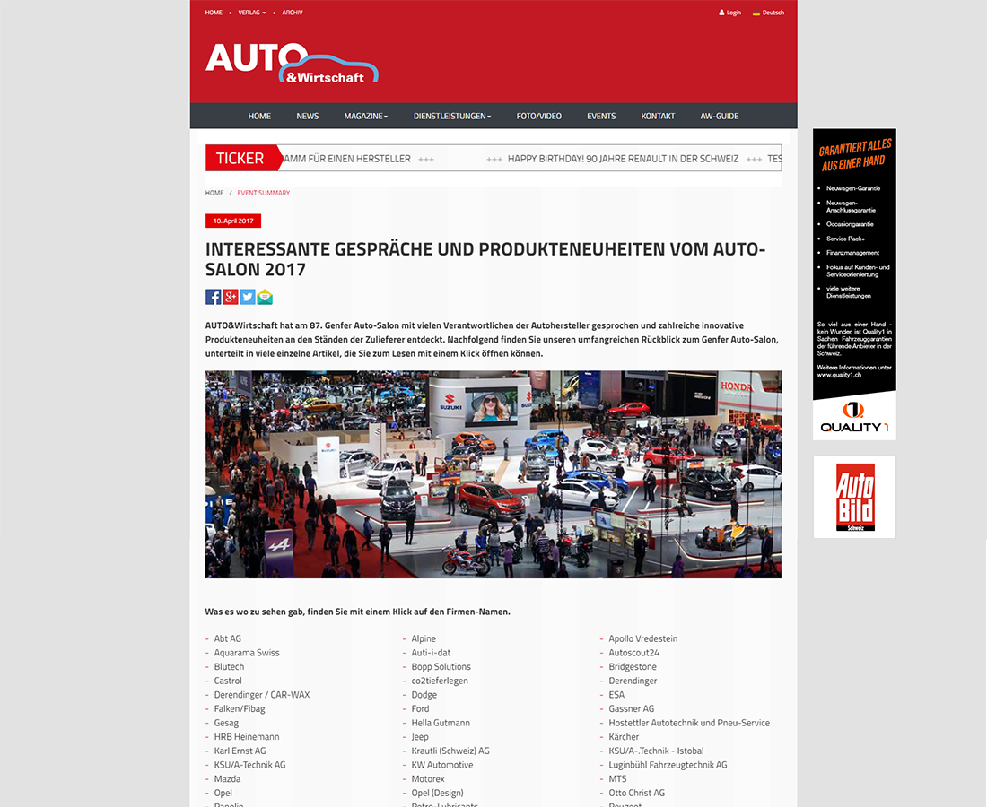 A&W Events Messe- und Eventrückschau