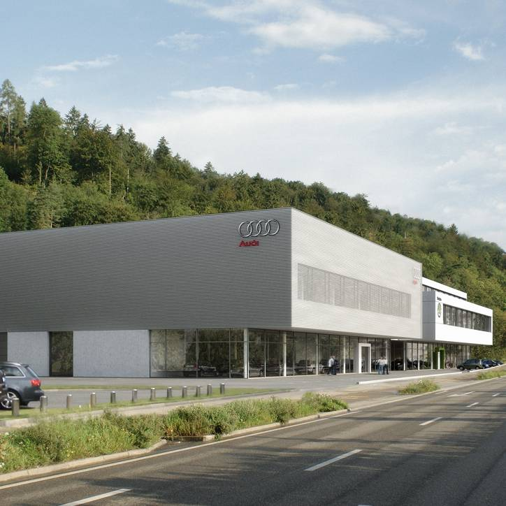 Neues Audi und Škoda Center in Winterthur