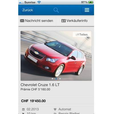 autoricardo.ch lanciert Mobile-Apps