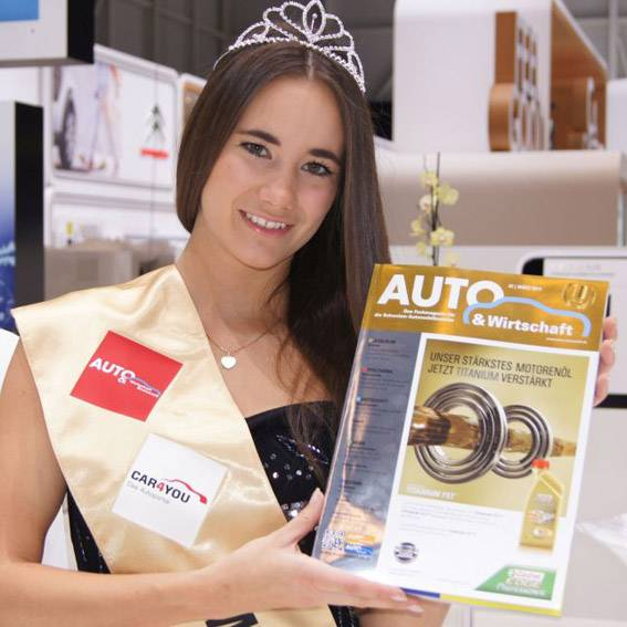 Miss Autosalon 2014 in der Halle 7