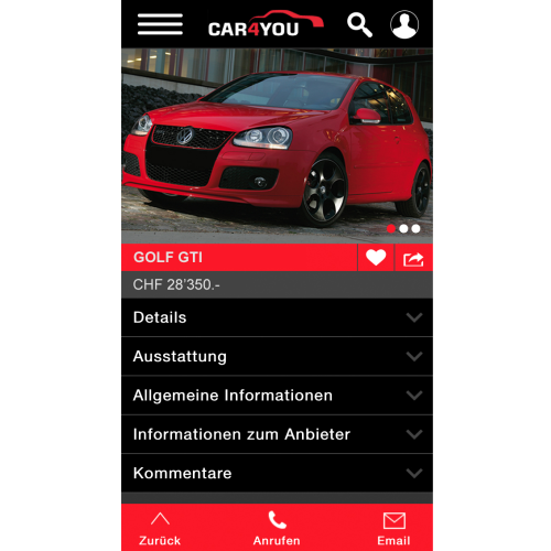 Car4you.ch lanciert neue App