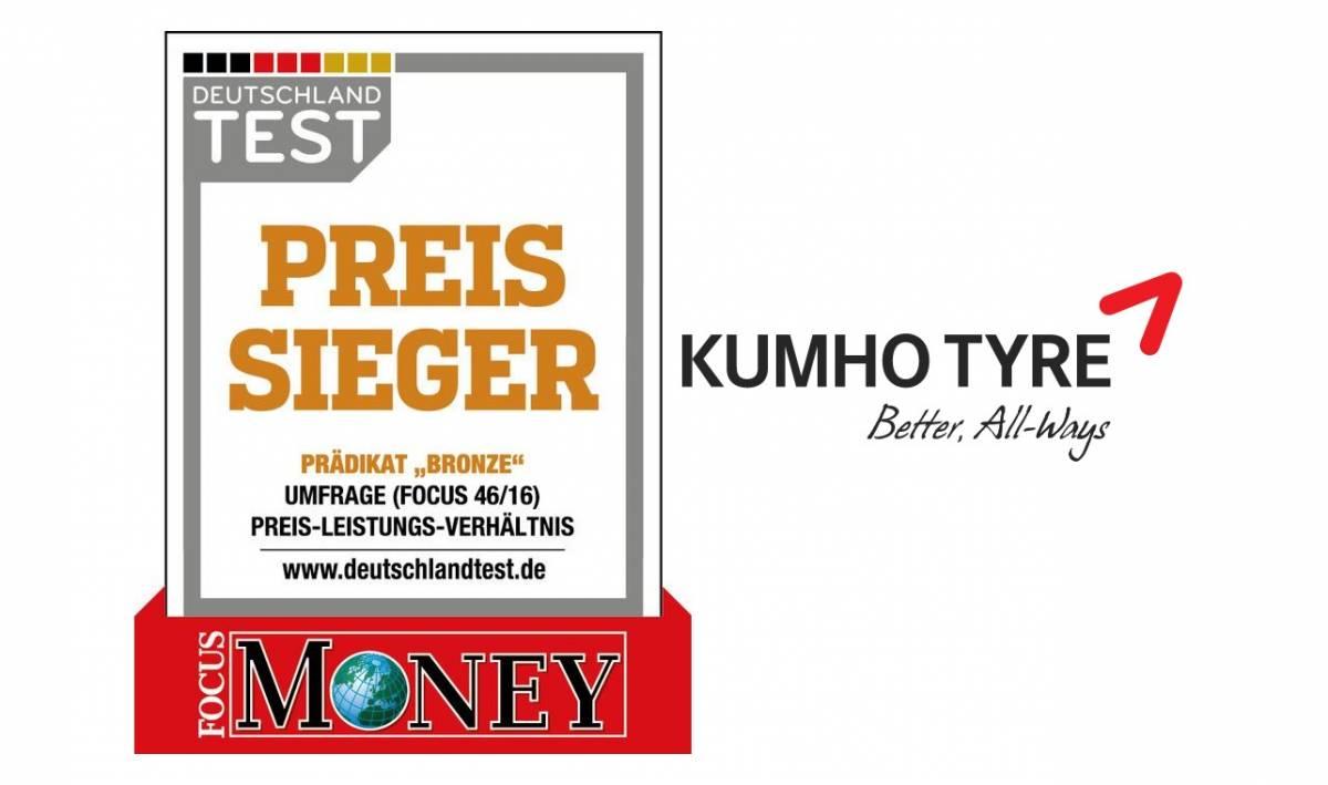 Kumho wird «Preissieger 2016» bei «Focus Money»