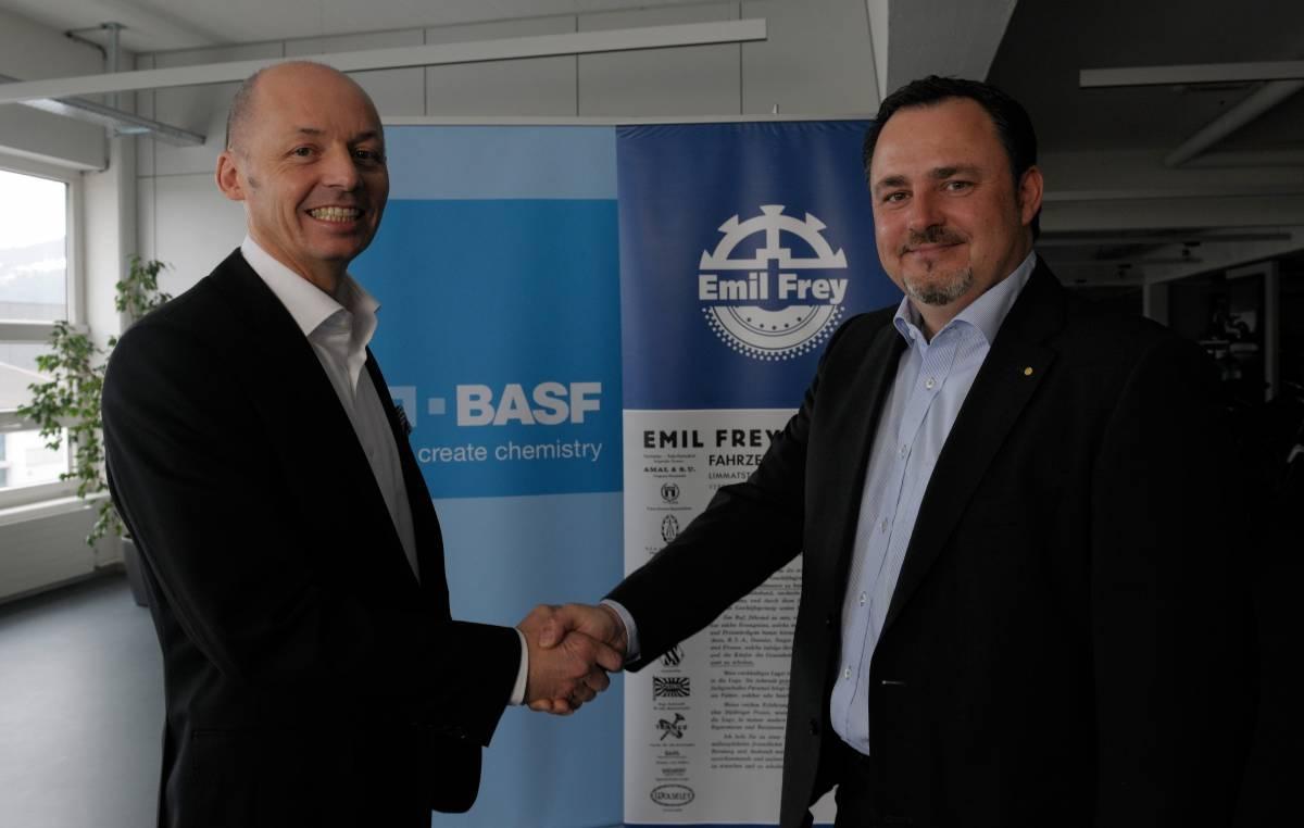 Emil Frey Gruppe und BASF unterzeichnen Zusammenarbeits-Vereinbarung