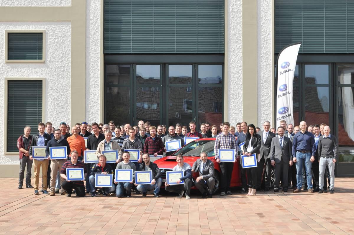 Subaru Schweiz zeichnet 63 Techniker aus