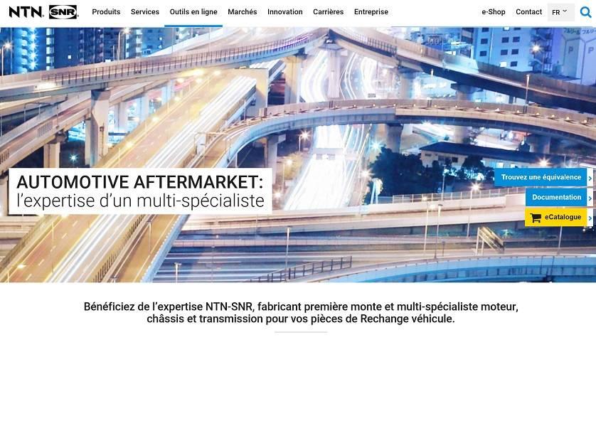 Eine neue Webseite für NTN SNR Europe