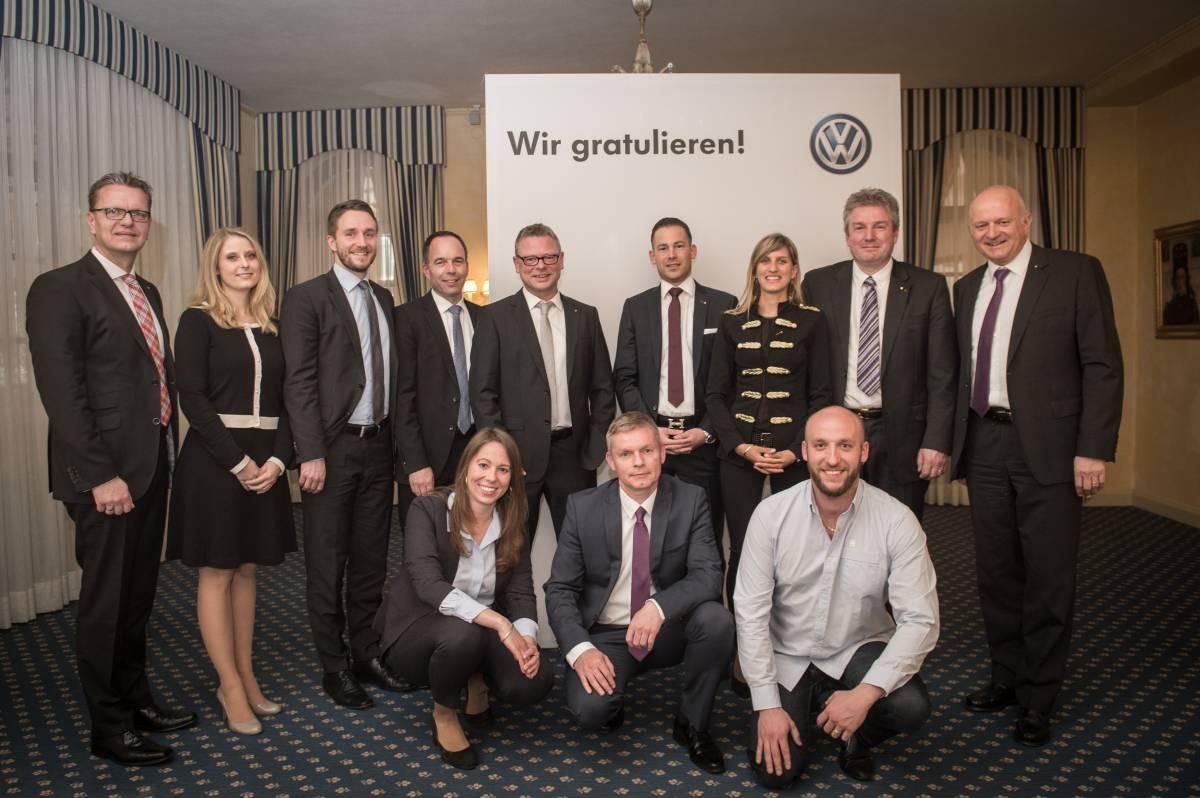 VW zeichnet beste Schweizer Mitarbeitende aus