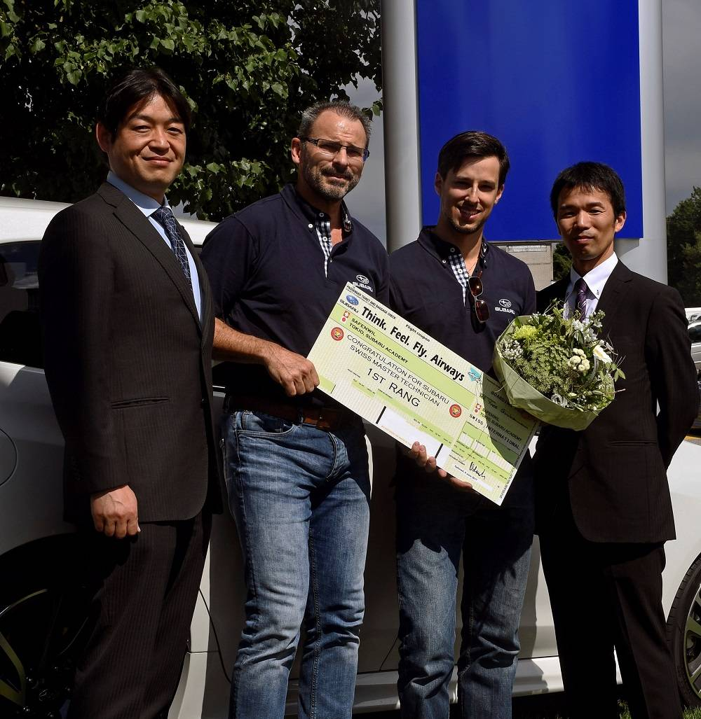 Frisch gekürter Schweizermeister qualifiziert sich für Subaru Mechaniker-WM 2017
