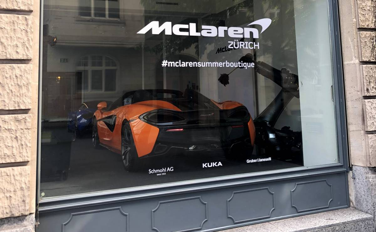 McLaren Summer Boutique: Temporärer Showroom mitten in Zürich