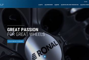«Great Passion for Great Wheels»: Ronal Group präsentiert neue Webseite