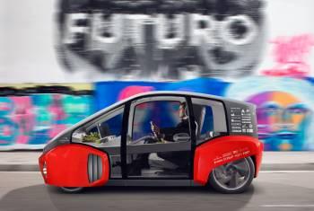 Europa-Premiere: Rinspeed zeigt urbanen Flitzer Oasis auf dem Auto-Salon Genf 2017