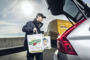Volvo und die Schweizerische Post führen Kofferraum-Zustellung ein